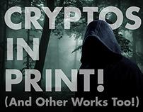 Cryptos in Print Kickstarter Title Card