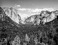 Yosemite Valley, California - Black & White