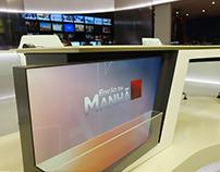"""News Set """"Edição da Manhã"""" SIC NOTÍCIAS TV Channel"""