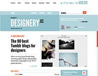 DESIGNERY.us layout design