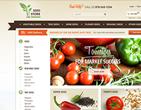 Webdesign for a seed store