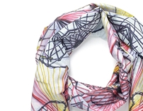 Your Head in Colors Silk Scarf