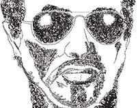 Sylvester Stallon Typography Face