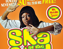 Flyer for Ska at the Stad, Utrecht