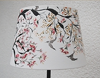 Asian  painting - lamp nr. 7 - 215 Euro