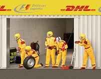 DHL Pit lane