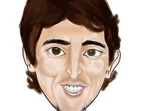 Digital Caricature of Luka Modrić