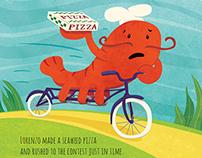 Lorenzo The Pizza-Loving Lobster :Children's Book Dummy