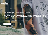 New Project - Responsive Multi-Purpose Theme