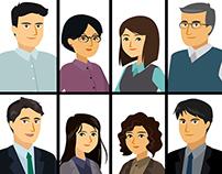 curso y personajes BCRP