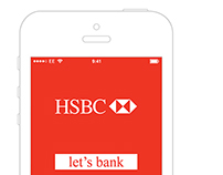 HSBC mobile banking app redesign.