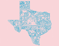 Illustrated Texas Map