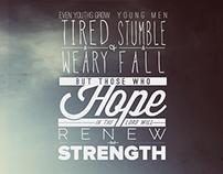 ISAIAH 40 | Verses Poster Series
