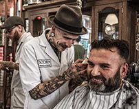 Schorem Barber Shop for Playboy Germany Magazine