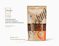 Kraft Bag with Clear Window Mockup