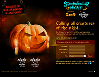Landing page for a Halloween party by Zee Café