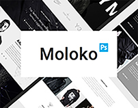Moloko UI Kit / Free Sample Inside