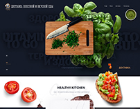 Web design, food & healthy kitchen