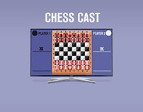ChessCast App UI: TV + Phone