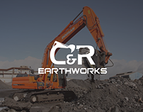 Logo Design for C&R Earthworks (Brand Identity)