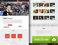 FREE samfolio personal one page web psd