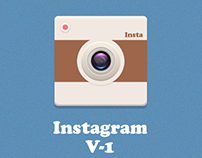 Flat Instagram Logo with few tweaks