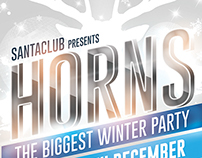 Horns Winter Party Flyer