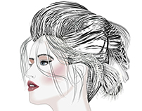 Hair Styles Illustrations