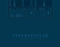 INTERSTELLAR (2014) Minimalist Movie Poster