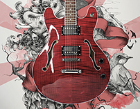 Poster campaign for Fant Guitars