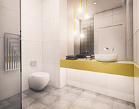 Bathroom of small modern apartment 1