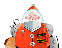 Holiday Illustrations featuring Santa