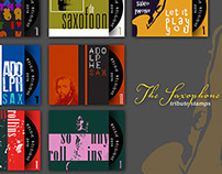 The Saxophone tribute stamps