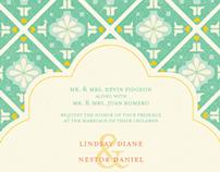 Spanish Tile Inspired Wedding Paper Goods