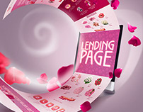 Rose, lending page