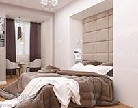 Bedroom (Blue splash) / Спальня