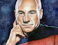 Star Trek Fan Art: Watercolor Portraits