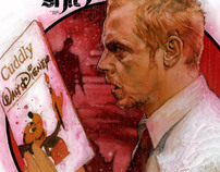 Simon Pegg Illustration