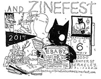 East Bay Alternative Book and Zine Fest Poster
