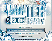 Winter Party Poster | Flyer