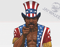 Apollo Creed - Livin' in America Tee