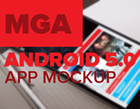 Android 5.0 Gaming Application Mockup [Material Design]