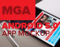 Android 5.0 Gaming Application Mockup [Material Design]