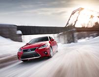 Lexus CT200t winter shoot
