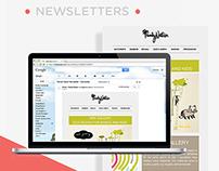 Newsletter design for Family Nation