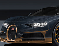 Bugatti Chiron Black Gold