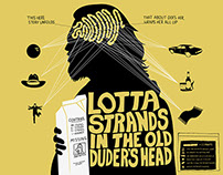 Lotta Strands In the Old Duder's Head