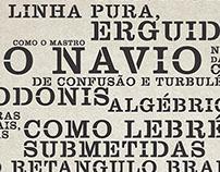 Clarendon Stencil — Ode à Tipografia, Pablo Neruda
