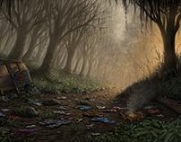 Digital Illustration: Macabre Environment