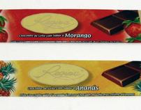 Chocolate Regina. Illustration for packaging. (Fruits)